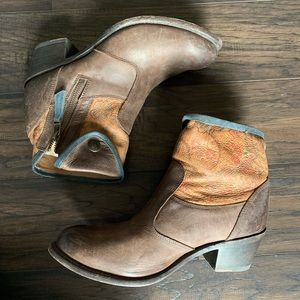 Sonora ankle leather booties